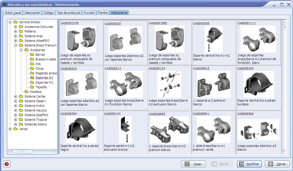 Ingnio software toldos fabricantes e instaladores corte for Accesorios de toldos
